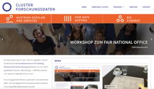 Cluster Webseite