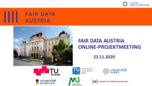 Fair Data Online Projektmeeting Banner