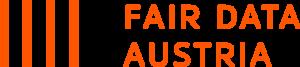 Logo Fair Data Austria orange-red